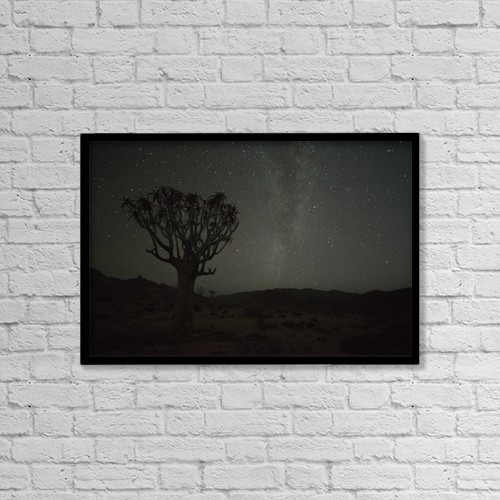 """Printscapes Wall Art: 18"""" x 12"""" Canvas Print With Black Frame - Astronomy by Robert Postma"""