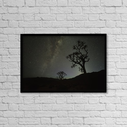 "Printscapes Wall Art: 18"" x 12"" Canvas Print With Black Frame - Astronomy by Robert Postma"
