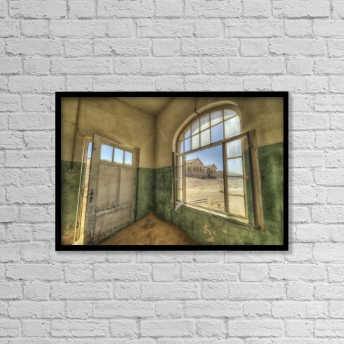 "Printscapes Wall Art: 18"" x 12"" Canvas Print With Black Frame - Architectural Interiors by Robert Postma"