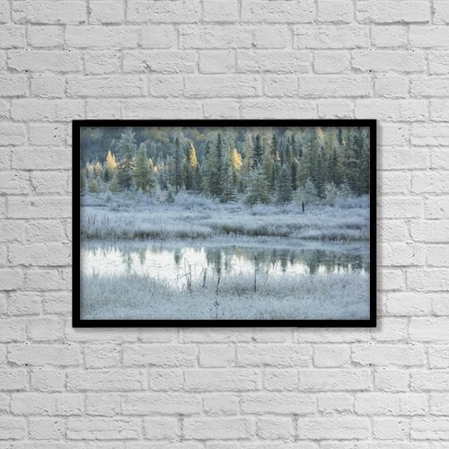 "Printscapes Wall Art: 18"" x 12"" Canvas Print With Black Frame - Scenic by Robert Postma"