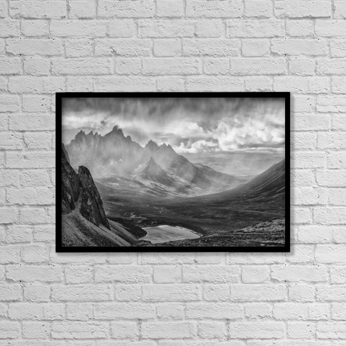 """Printscapes Wall Art: 18"""" x 12"""" Canvas Print With Black Frame - Weather by Robert Postma"""