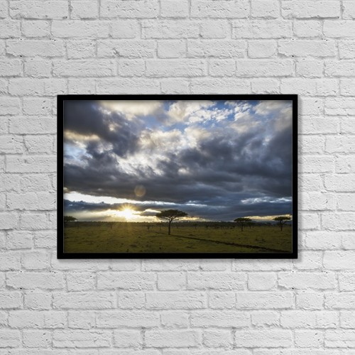 "Printscapes Wall Art: 18"" x 12"" Canvas Print With Black Frame - Scenic by Peter Langer"