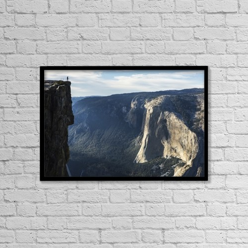 """Printscapes Wall Art: 18"""" x 12"""" Canvas Print With Black Frame - People by Tracy Barbutes"""