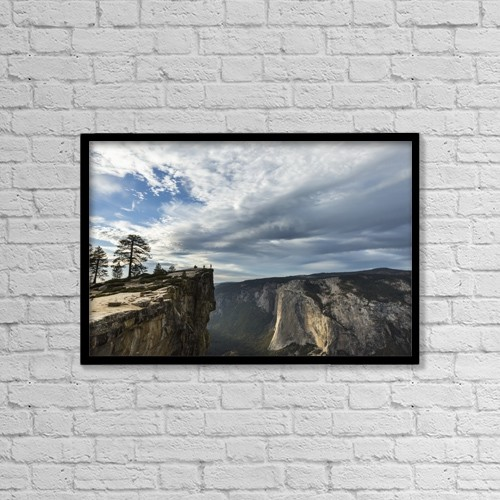"Printscapes Wall Art: 18"" x 12"" Canvas Print With Black Frame - People by Tracy Barbutes"