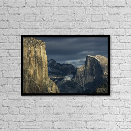 "Printscapes Wall Art: 18"" x 12"" Canvas Print With Black Frame - Scenic by Tracy Barbutes"