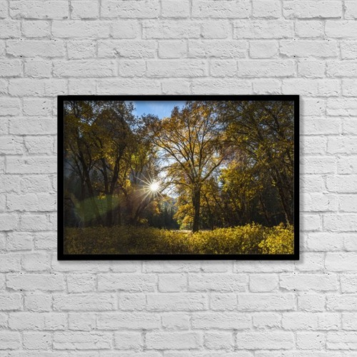 """Printscapes Wall Art: 18"""" x 12"""" Canvas Print With Black Frame - Scenic by Tracy Barbutes"""