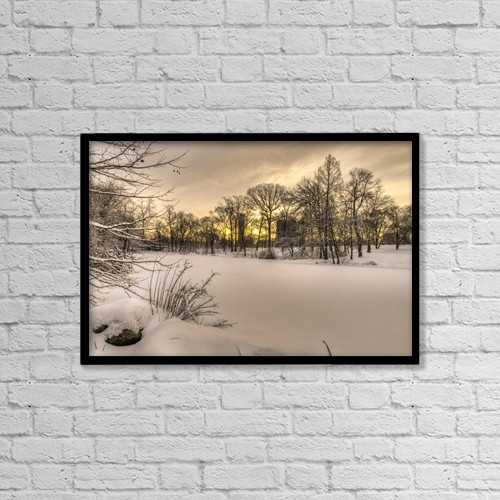 "Printscapes Wall Art: 18"" x 12"" Canvas Print With Black Frame - Weather by F. M. Kearney"