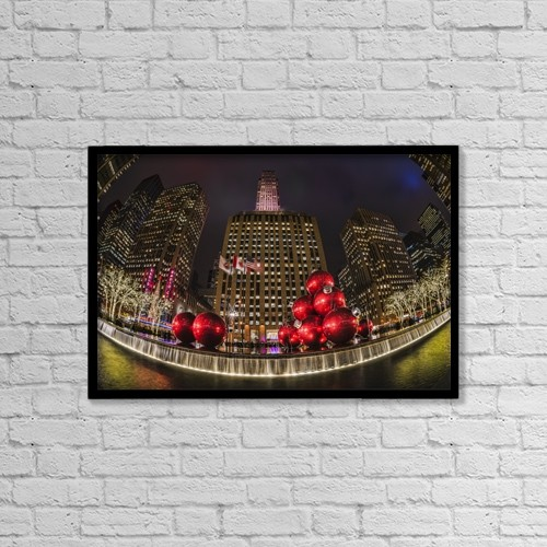 "Printscapes Wall Art: 18"" x 12"" Canvas Print With Black Frame - Special Occasions by F. M. Kearney"