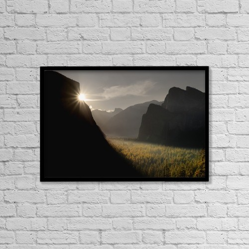 "Printscapes Wall Art: 18"" x 12"" Canvas Print With Black Frame - Scenic by Gina Bringman"