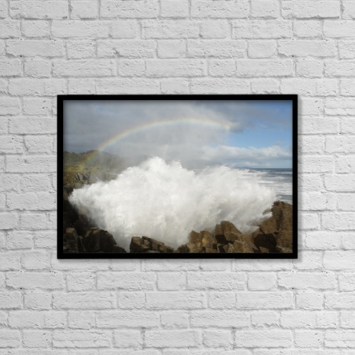 """Printscapes Wall Art: 18"""" x 12"""" Canvas Print With Black Frame - Scenic by Nicola M Mora"""