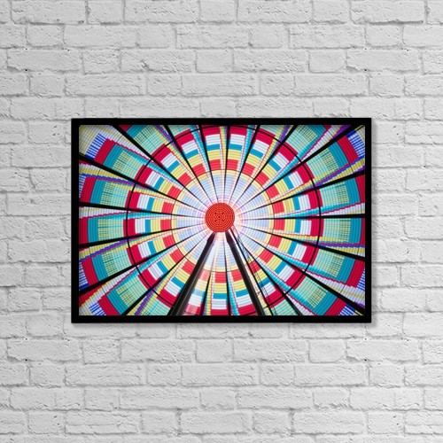 """Printscapes Wall Art: 18"""" x 12"""" Canvas Print With Black Frame - Amusement Parks by Ian Ludwig"""
