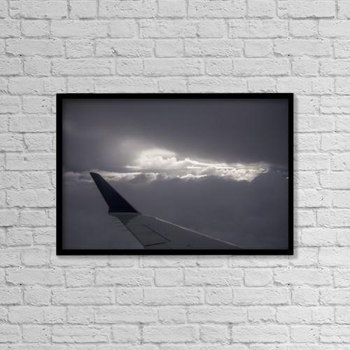 "Printscapes Wall Art: 18"" x 12"" Canvas Print With Black Frame - Transportation by Robert L. Potts"