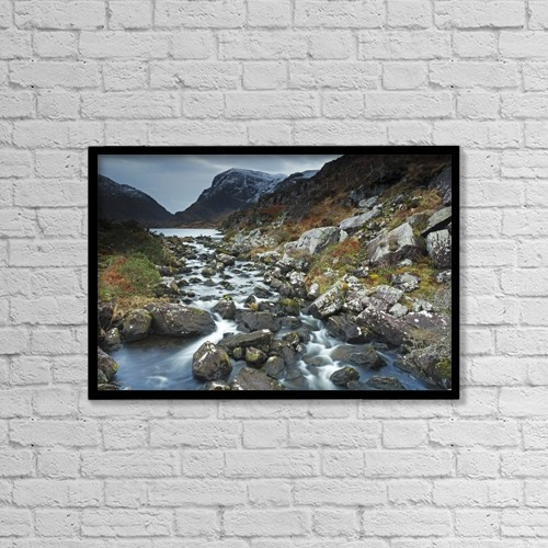 "Printscapes Wall Art: 18"" x 12"" Canvas Print With Black Frame - Winter In The Gap Of Dunloe, Near Killarney by Trish Punch"