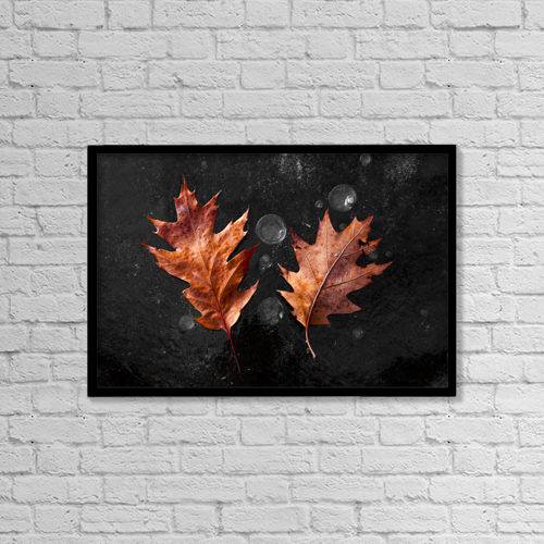"Printscapes Wall Art: 18"" x 12"" Canvas Print With Black Frame - Nature by Lucas Payne"