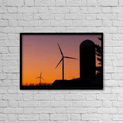 "Printscapes Wall Art: 18"" x 12"" Canvas Print With Black Frame - Industry by Lucas Payne"