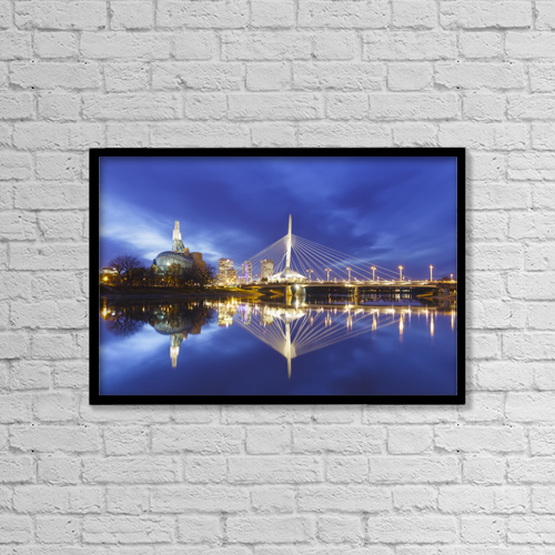 "Printscapes Wall Art: 18"" x 12"" Canvas Print With Black Frame - Architectural Exteriors by Ken Gillespie"