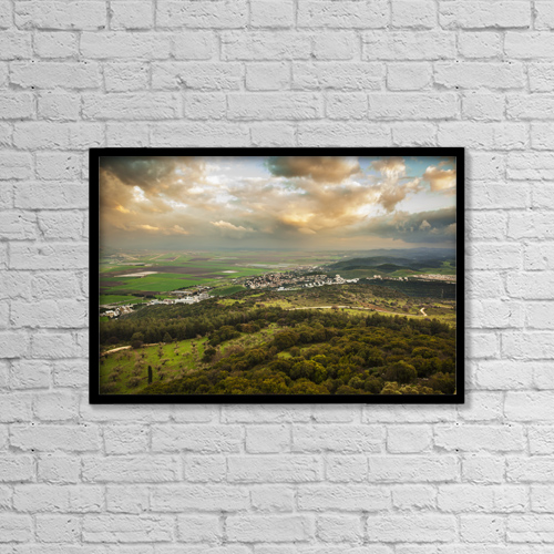 "Printscapes Wall Art: 18"" x 12"" Canvas Print With Black Frame - Christian Faith by Reynold Mainse"