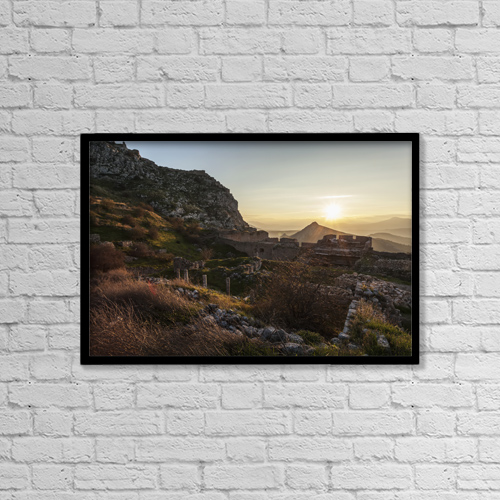 "Printscapes Wall Art: 18"" x 12"" Canvas Print With Black Frame - Historic & Vintage by Reynold Mainse"