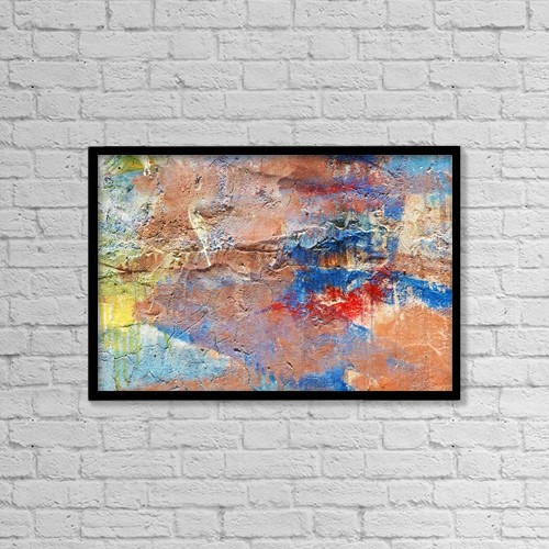 """Printscapes Wall Art: 18"""" x 12"""" Canvas Print With Black Frame - Artwork and Paintings by Ron Dahlquist"""