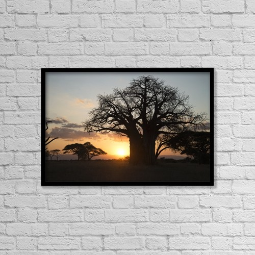 "Printscapes Wall Art: 18"" x 12"" Canvas Print With Black Frame - Scenic by Kenneth Whitten"