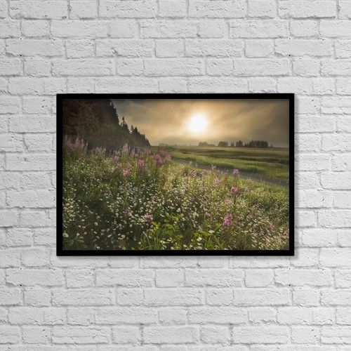 "Printscapes Wall Art: 18"" x 12"" Canvas Print With Black Frame - Nature by Carl Johnson"