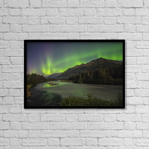 "Printscapes Wall Art: 18"" x 12"" Canvas Print With Black Frame - Astronomy by Carl Johnson"