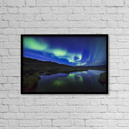 """Printscapes Wall Art: 18"""" x 12"""" Canvas Print With Black Frame - Astronomy by Carl Johnson"""