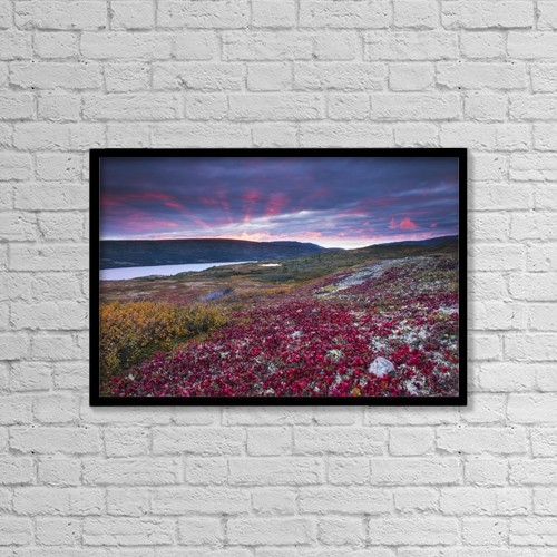 """Printscapes Wall Art: 18"""" x 12"""" Canvas Print With Black Frame - Scenic by Carl Johnson"""