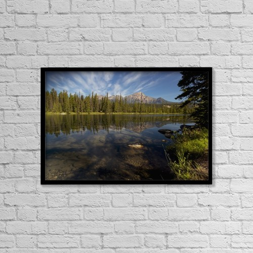 "Printscapes Wall Art: 18"" x 12"" Canvas Print With Black Frame - Scenic by Justin Sinclair"