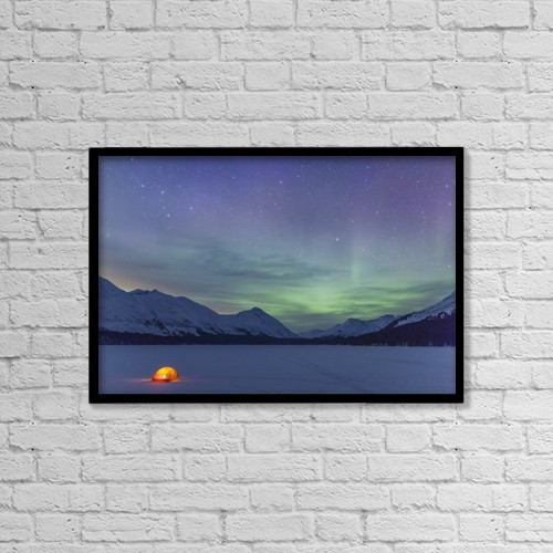 """Printscapes Wall Art: 18"""" x 12"""" Canvas Print With Black Frame - Sports and Recreation by Kevin G. Smith"""