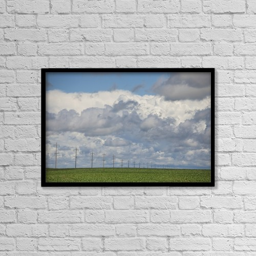 "Printscapes Wall Art: 18"" x 12"" Canvas Print With Black Frame - Summer On The Prairies by Susan Dykstra"