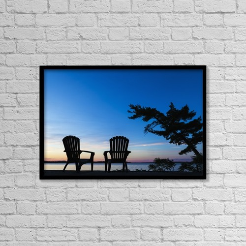 """Printscapes Wall Art: 18"""" x 12"""" Canvas Print With Black Frame - Objects by Vast Photography"""