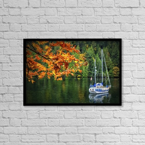 """Printscapes Wall Art: 18"""" x 12"""" Canvas Print With Black Frame - Nautical by Marion Owen"""