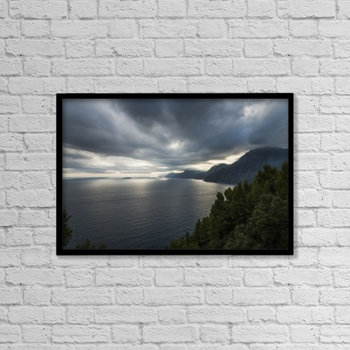 "Printscapes Wall Art: 18"" x 12"" Canvas Print With Black Frame - Scenic by Keith Levit"