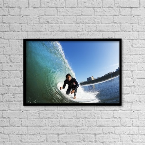 "Printscapes Wall Art: 18"" x 12"" Canvas Print With Black Frame - Creative Imagery by Design Pics Vibe"