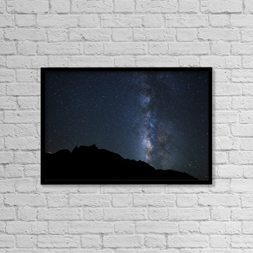"""Printscapes Wall Art: 18"""" x 12"""" Canvas Print With Black Frame - Creative Imagery by Design Pics Vibe"""