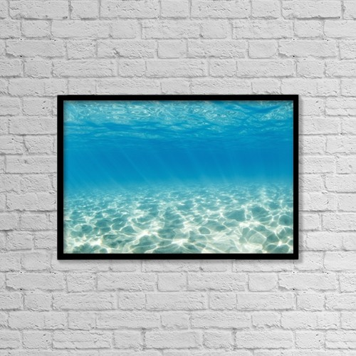"Printscapes Wall Art: 18"" x 12"" Canvas Print With Black Frame - Underwater by Design Pics Vibe"