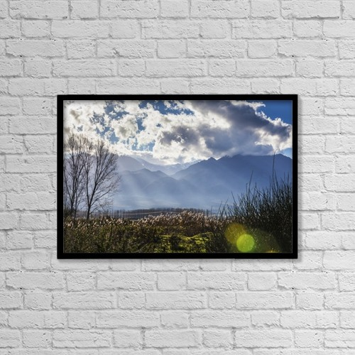 "Printscapes Wall Art: 18"" x 12"" Canvas Print With Black Frame - Scenic by Reynold Mainse"
