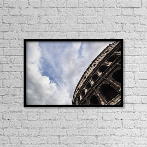 "Printscapes Wall Art: 18"" x 12"" Canvas Print With Black Frame - Colosseum; Rome, Italy by Reynold Mainse"