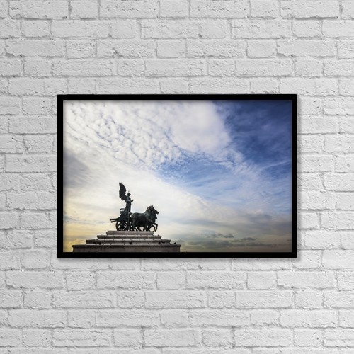 "Printscapes Wall Art: 18"" x 12"" Canvas Print With Black Frame - National Monument To Victor Emmanuel Ii by Reynold Mainse"