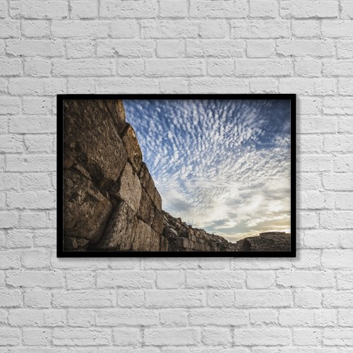 """Printscapes Wall Art: 18"""" x 12"""" Canvas Print With Black Frame - Historic & Vintage by Reynold Mainse"""