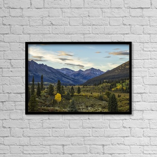 "Printscapes Wall Art: 18"" x 12"" Canvas Print With Black Frame - The Landscape Along The South Canol Road by Robert Postma"