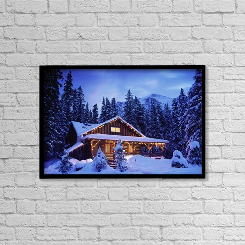 "Printscapes Wall Art: 18"" x 12"" Canvas Print With Black Frame - Christian Faith by Darwin Wiggett"