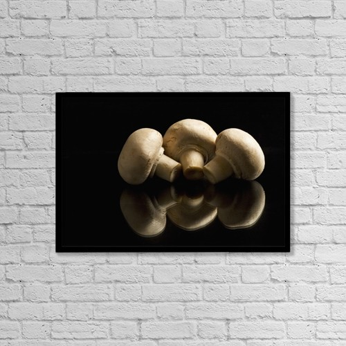 "Printscapes Wall Art: 18"" x 12"" Canvas Print With Black Frame - Food by Michael Interisano"