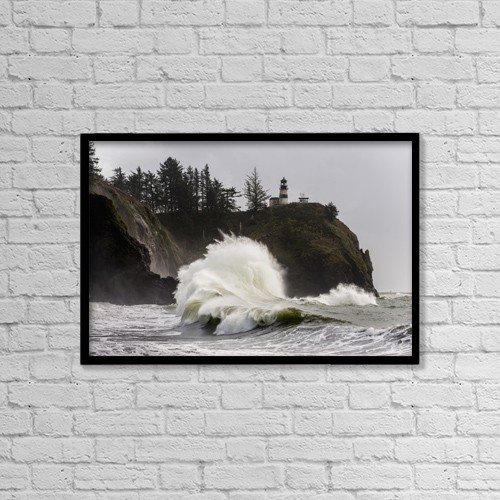 "Printscapes Wall Art: 18"" x 12"" Canvas Print With Black Frame - Nautical by Robert L. Potts"