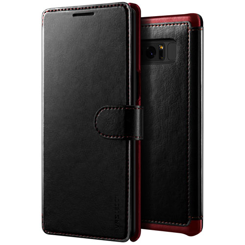 VRS Design Wallet Case for Galaxy Note8 - Black