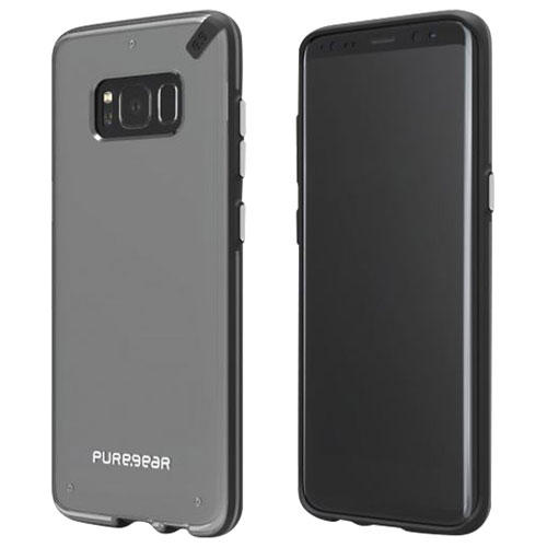 PureGear Fitted Soft Shell Case for Galaxy Note8 - Clear/Black