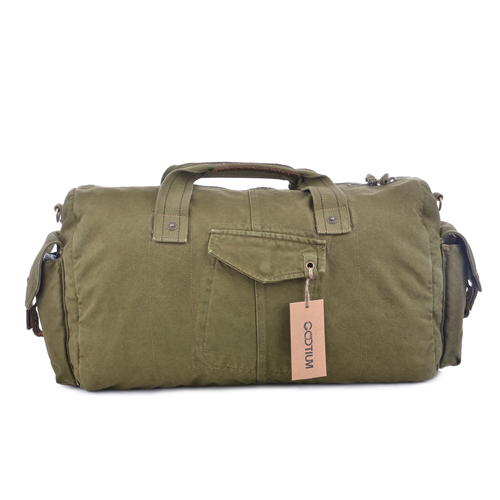 889c16c188 Gootium Vintage Canvas Duffle Bag Travel Tote Weekend Holdall Sports Gym Bag