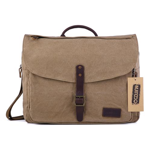 b0de67ad0e63 Gootium Vintage Canvas Messenger Bag Classic British Style Shoulder ...