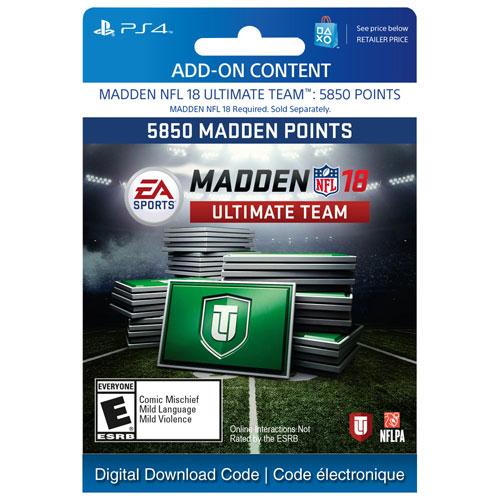 Madden NFL 18 Ultimate Team - 5850 Points - Digital Download